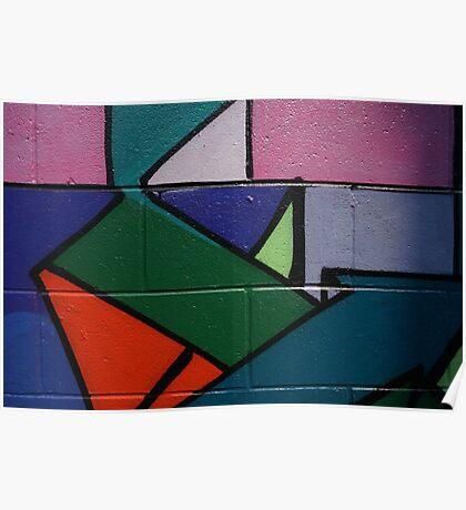 Colourful Geometric wall art Poster