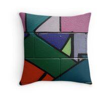 Colourful Geometric wall art Throw Pillow