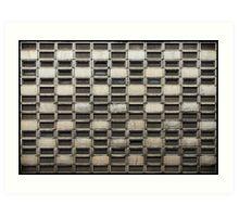 Binary Concrete Art Print