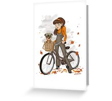 Autumn ride Greeting Card
