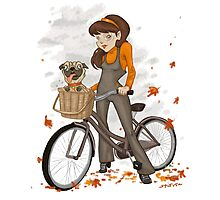 Autumn ride Photographic Print