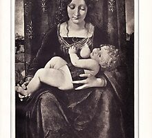 The Madonna and Child vintage engraving by Krzyzanowski Art