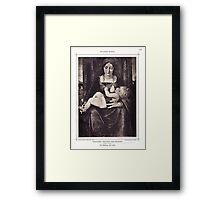 The Madonna and Child vintage engraving Framed Print