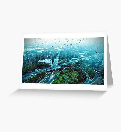 Rain over the City (color) Greeting Card