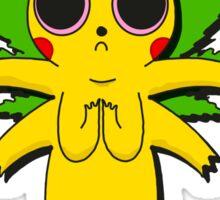 Stoned Pikachu Sticker