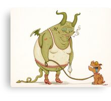 A demon and his dog... Canvas Print