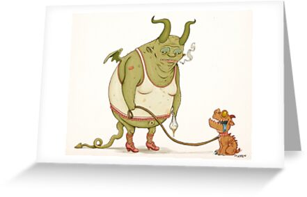 A demon and his dog... by stieven
