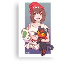 Pokemon Sun/Moon Trainer Canvas Print