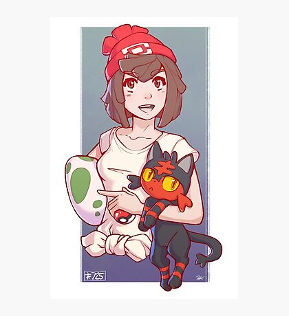 Pokemon Sun/Moon Trainer Photographic Print