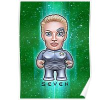 Seven of Nine - Star Trek Caricature Poster
