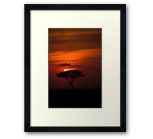 AFRICAN SUNSET Framed Print