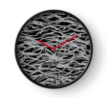 Black White Abstract Curving Lines - Horizontal Clock