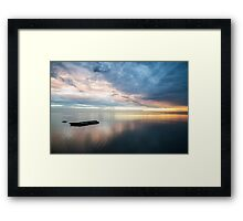 SHARK BAY SUNSET Framed Print
