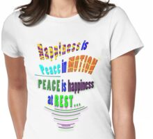 PEACE and HAPPINESS Womens Fitted T-Shirt