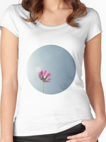Silver lining circle ttv photograph Women's Fitted Scoop T-Shirt