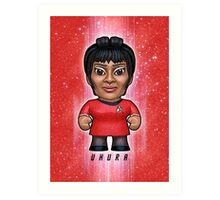 Uhura - Star Trek Caricature Art Print