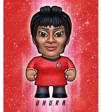 Uhura - Star Trek Caricature Sticker