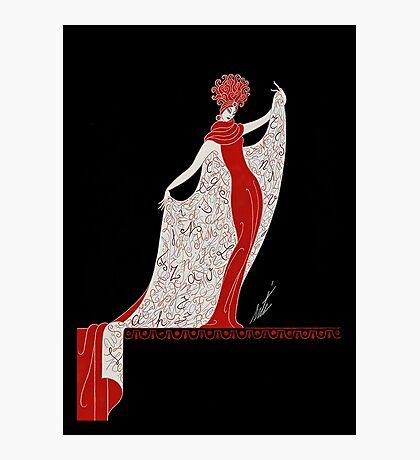 "Art Deco Costume by Erte ""Alphabet Cloak"" Photographic Print"