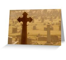 Cross in Golden Mist Greeting Card