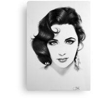 Elizabeth Taylor Minimal Portrait Canvas Print