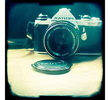 Old friend - vintage Pentax camera Photographic Print