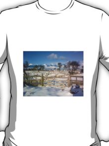 holy island in xmas snow T-Shirt