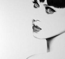Katy Perry Minimal Portrait by IleanaHunterArt