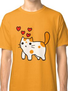 Spotted Kitty in Love Classic T-Shirt