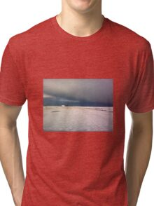 holy island in the xmas snow Tri-blend T-Shirt