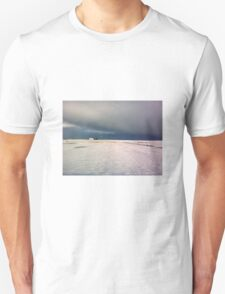 holy island in the xmas snow Unisex T-Shirt
