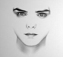 Gerard Way Minimal Portrait by IleanaHunterArt