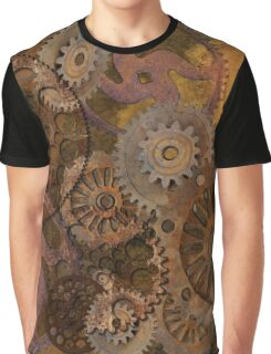 Changing Gear - Steampunk Gears & Cogs Graphic T-Shirt