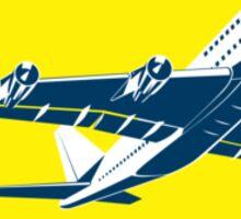 Commercial Jet Plane Airline Circle Retro Sticker