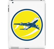 Commercial Jet Plane Airline Circle Retro iPad Case/Skin