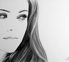 Kristen Stewart Minimal Portrait by IleanaHunterArt