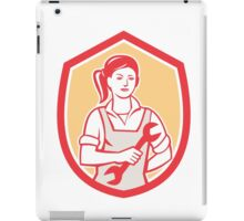 Female Mechanic Spanner Shield Retro iPad Case/Skin