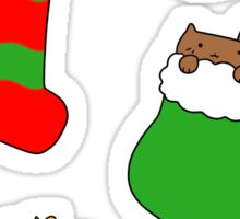 Christmas Stocking Kitties Sticker