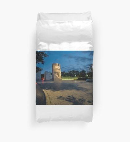 Martin Luther King memorial at dawn  Duvet Cover