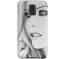 Kate Beckinsale Minimal Portrait Samsung Galaxy Case/Skin