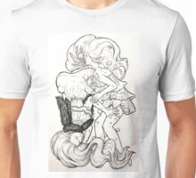 Mother Earth and Sister Night Line Art Unisex T-Shirt