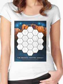 Bashar: Sedona Vortex Array Women's Fitted Scoop T-Shirt