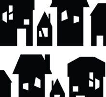 Black houses Sticker