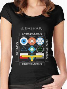 Bashar: Interstellar Enneagram (Black) Women's Fitted Scoop T-Shirt