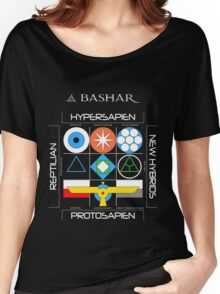 Bashar: Interstellar Enneagram (Black) Women's Relaxed Fit T-Shirt