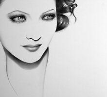Sylvia Sidney Minimal Portrait by IleanaHunterArt