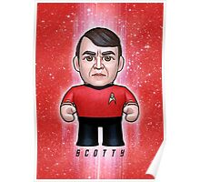 Scotty - Star Trek Caricature Poster