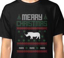Ugly Christmas Rhinos Classic T-Shirt