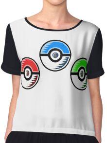 Pokemon - Starter Pokeballs Chiffon Top