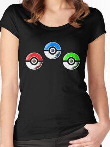 Pokemon - Starter Pokeballs Women's Fitted Scoop T-Shirt