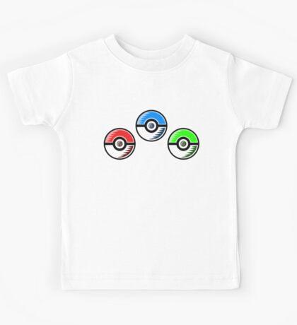 Pokemon - Starter Pokeballs Kids Tee